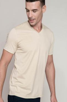 Pánské trièko kr.rukáv V-neck