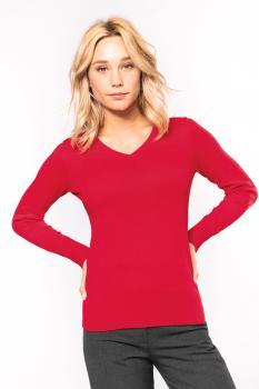 Dámský svetr do V Jumper