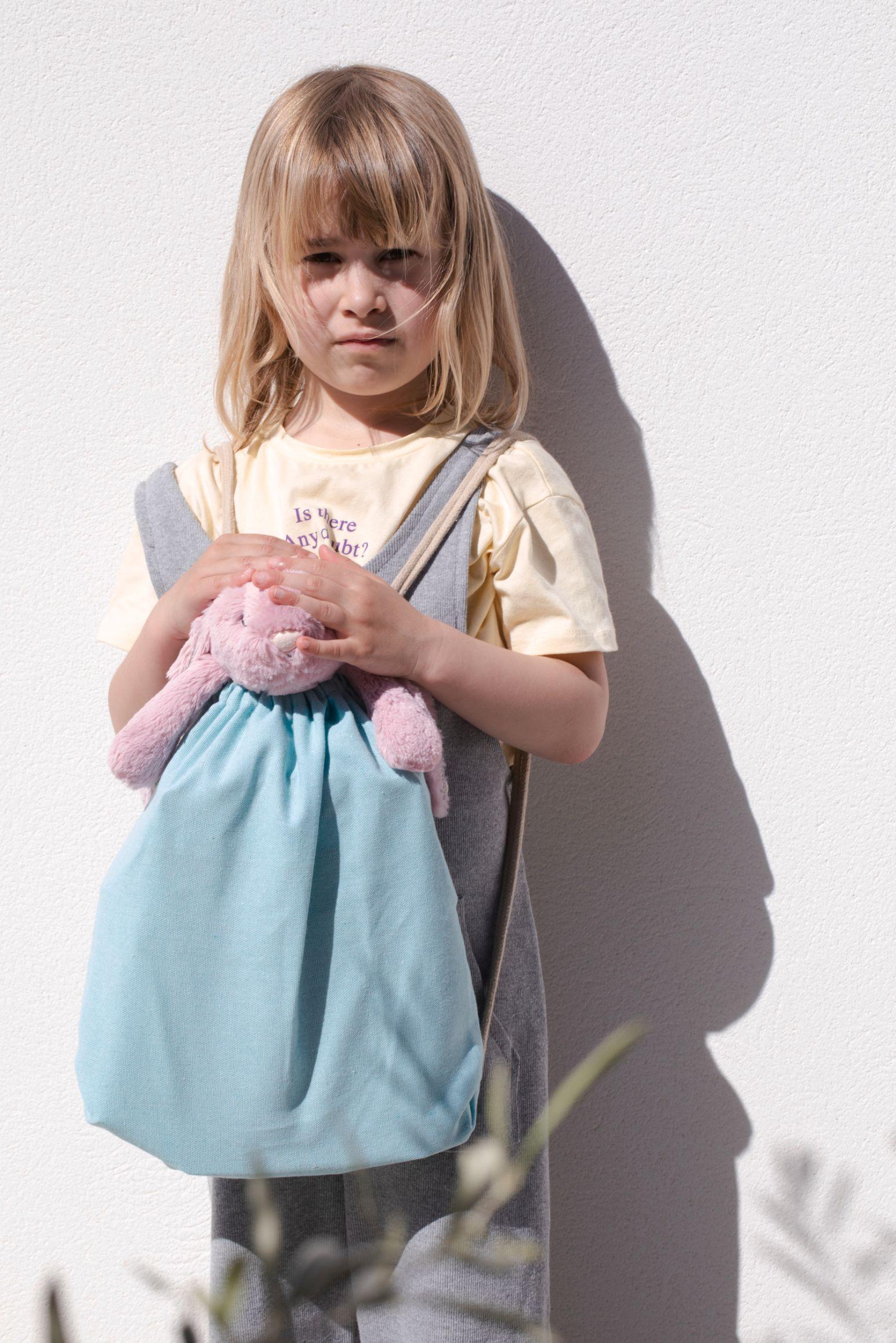 Malý recyklovaný batoh se šòùrkou - Dìtská velikost - zvìtšit obrázek