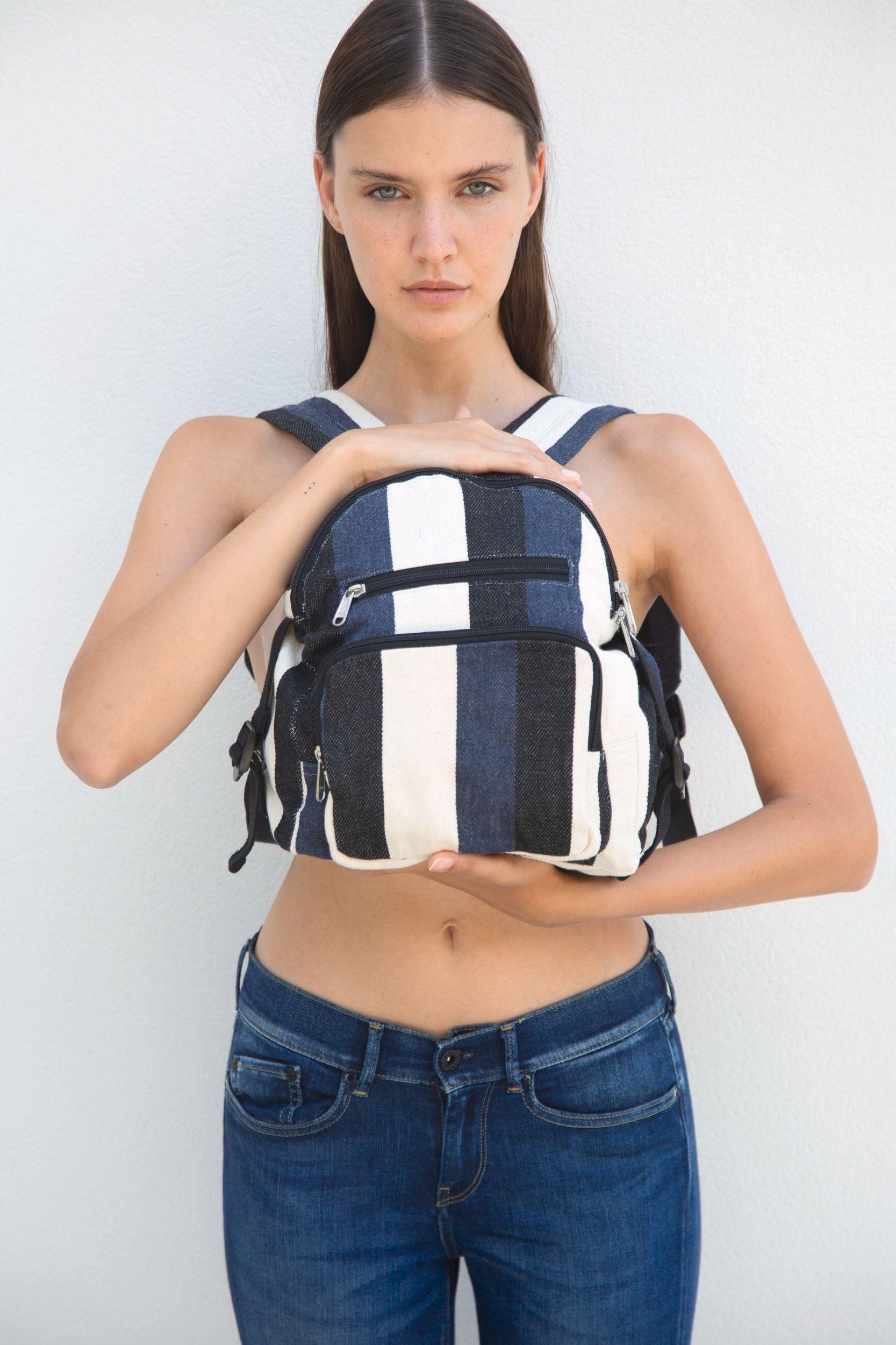 Recyklovaný batoh - Pruhovaný vzor - zvìtšit obrázek