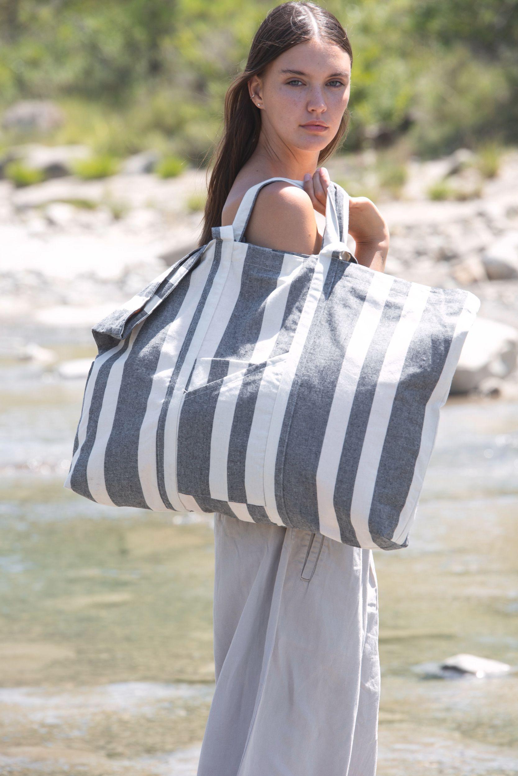 Recyklovaná taška na vše - Pruhovaný vzor - zvìtšit obrázek
