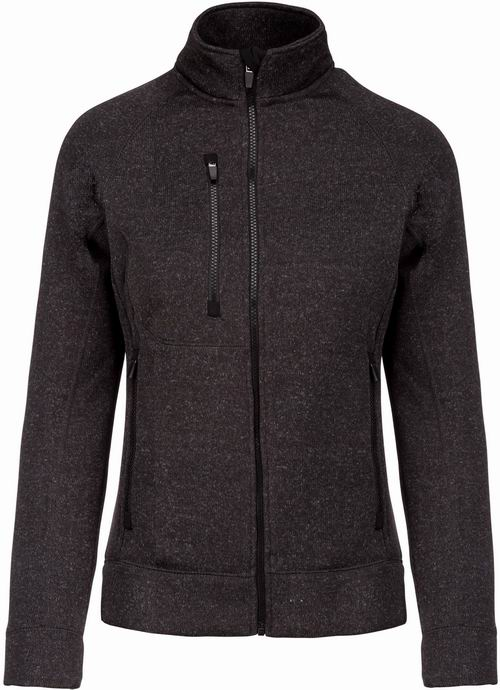 Dámská bundová mikina Full zip heather jacket - potisk-textil.cz 4024eff3ec