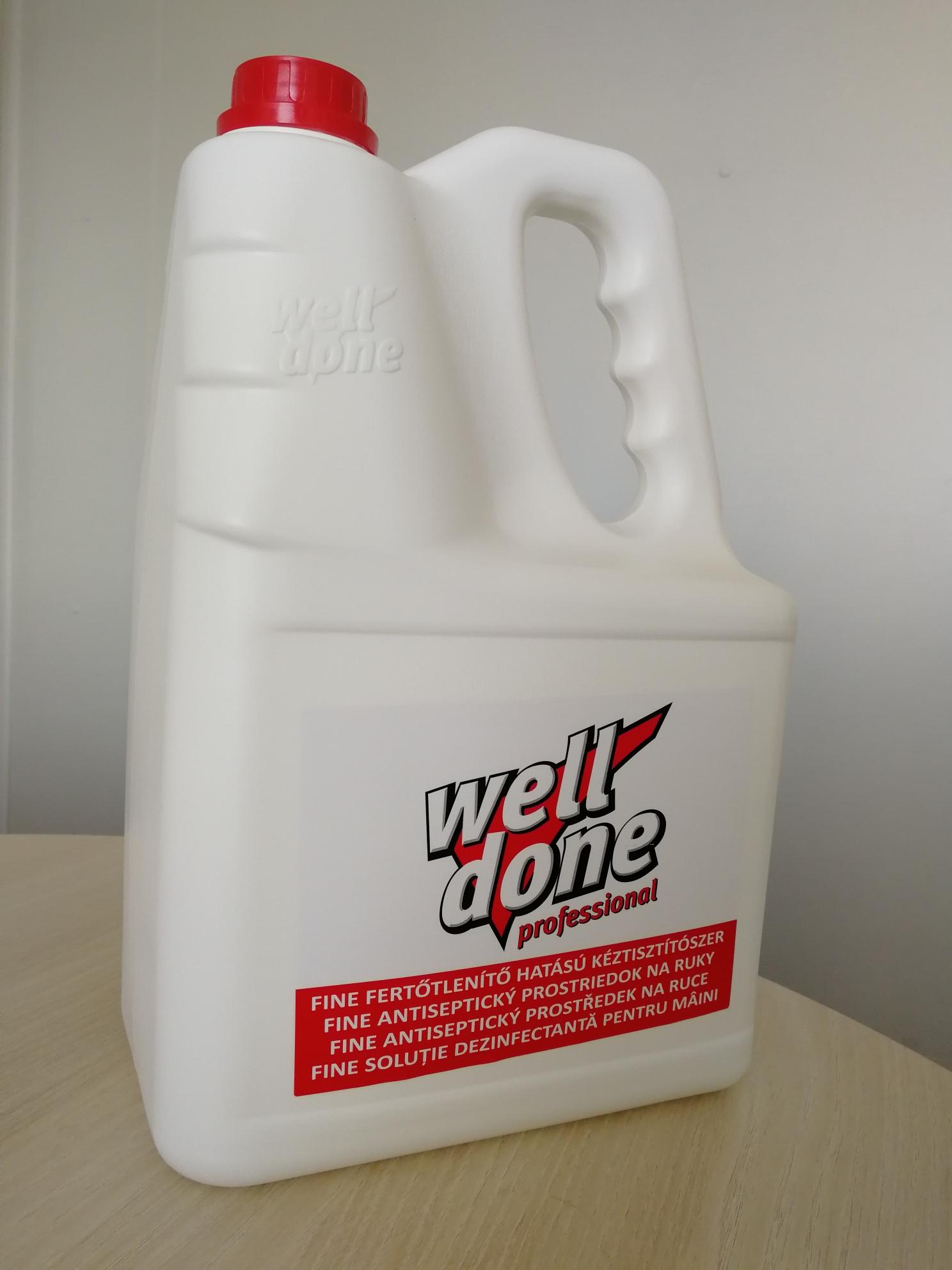 Dezinfekce 5 l- antiseptická tekutá dezinfekce rukou - zvìtšit obrázek